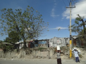 One of many tent cities in Port-au-Prince