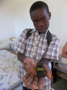 Michelet hopes to become a doctor when he grows up.