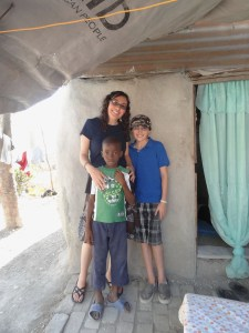 Wendy & Jason with our sponsored child in Carrefour Poy, January 2013