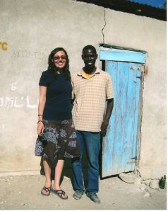 Wendy and Claudel in front of his house in Carrefour Poy, January 2013