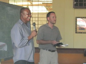Pastor Gilbert translated while Jeremy helped to teach Romans in November 2011