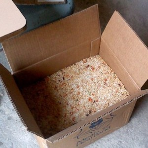 The rice mix which is provided by Misyon Lespwa.