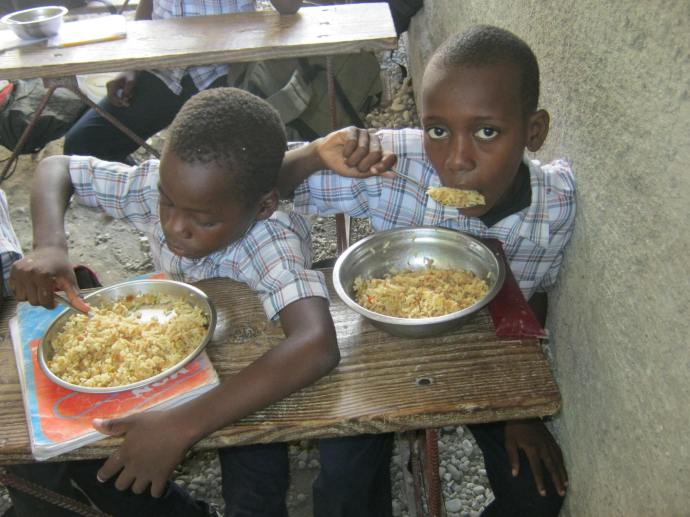 Praise God for providing FOOD for hungry kids!